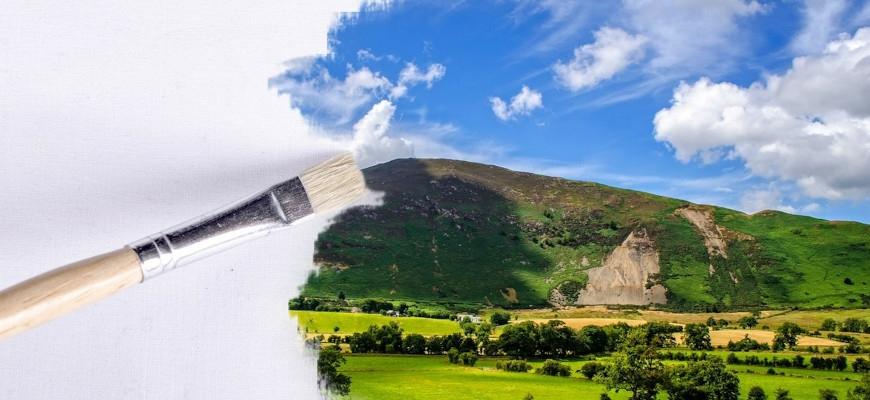 Практическо обучение на рисуване на пейзаж от снимка